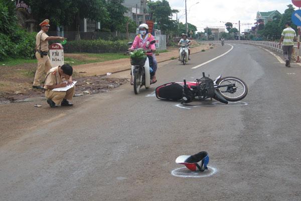Giữ nguyên hiện trường tai nạn
