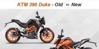 KTM Duke 390 mới và cũ