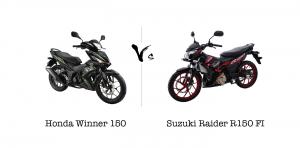 Honda Winner 150 vs Suzuki Raider R150 FI