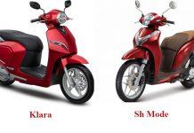 xe máy điện vinfast và SH Mode