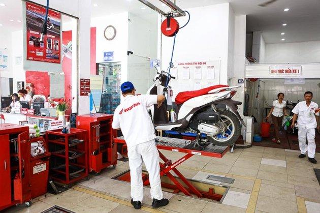 Bảo dưỡng xe máy Honda