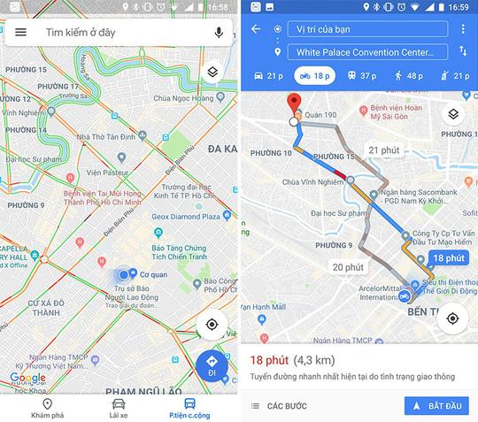 Bản đồ chỉ đường cho xe máy