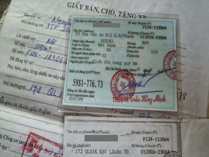 Loại giấy tờ được thanh lý từ Công An