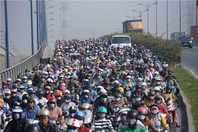 Tình trạng ô nhiễm môi trường do ùn tắc giao thông
