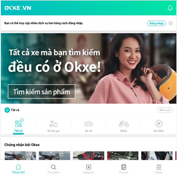 Okxe.vn - Trang web mua bán xe máy trực tuyến uy tín
