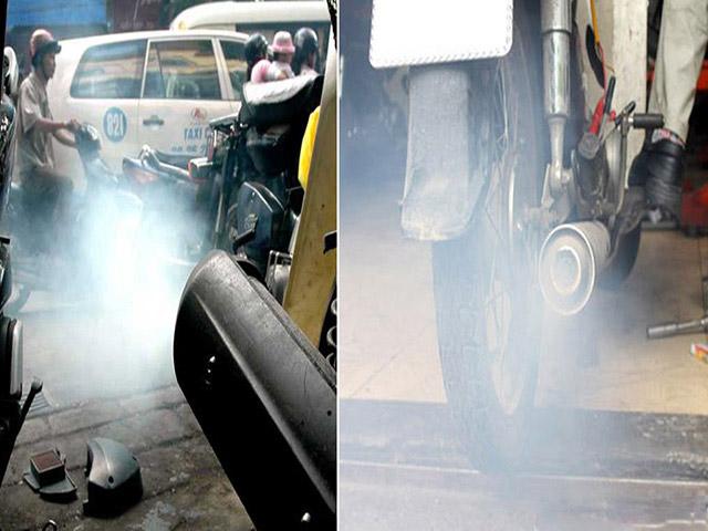 Có rất nhiều nguyên nhân khiến xe máy ra khói đen
