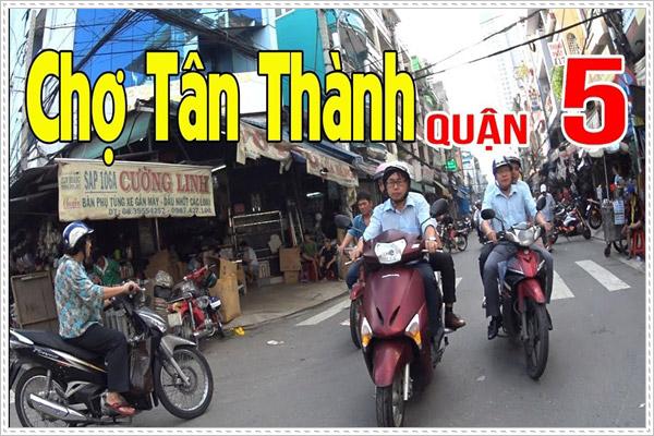 Chợ Tân Thành phụ tùng xe máy lớn nhất Sài Gòn