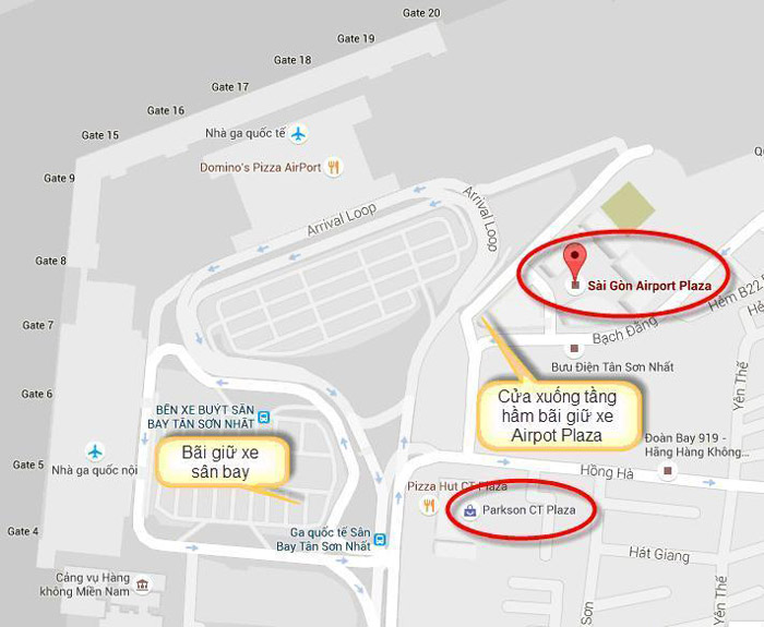 Các địa điểm gửi xe tại sân bay Tân Sơn Nhất