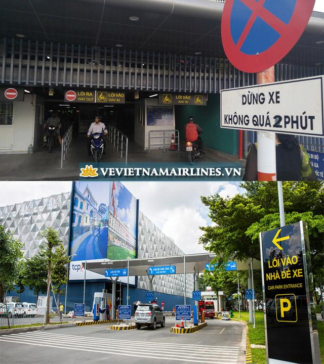 Lối vào tại bãi giữ xe TCP Park của sân bay Tân Sơn Nhất