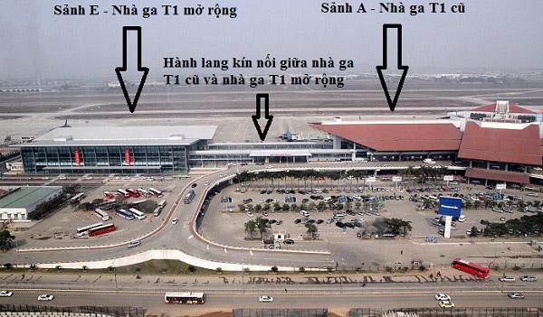 Bản đồ vị trí nhà ga sân bay Nội Bài