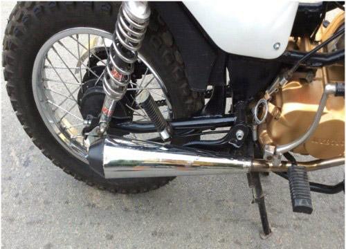 Bộ phuộc và ống pô của xe