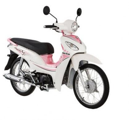 Sym Angela 50cc được thiết kế dường như dành riêng cho các bạn nữ sinh