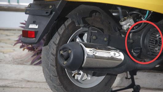 Vị trí két nước làm mát trên xe máy