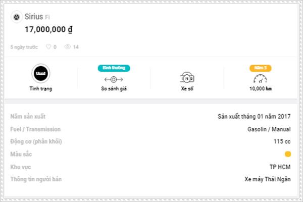 Mua xe trên ứng dụng Okxe với đầy đủ thông tin tình trạng xe máy