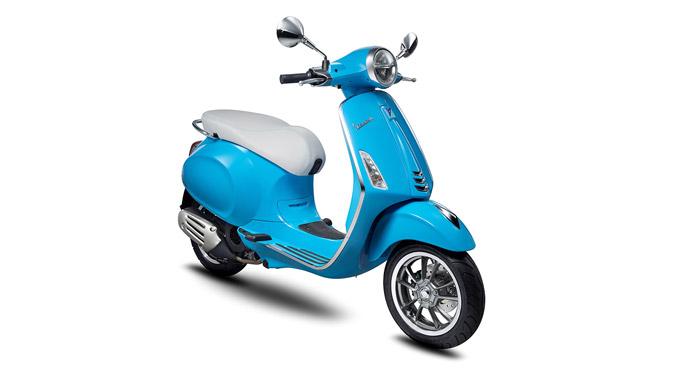 Vespa Primavera có thiết kế tinh tế cùng nhiều màu sắc
