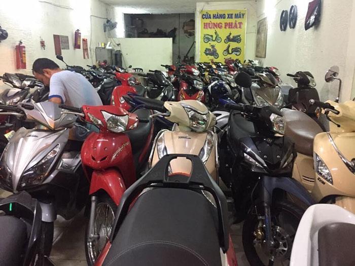 Một góc nhỏ của cửa hàng xe máy Hùng Phát