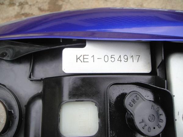 Số khung đầu KE1 các đời 1998 - 2007