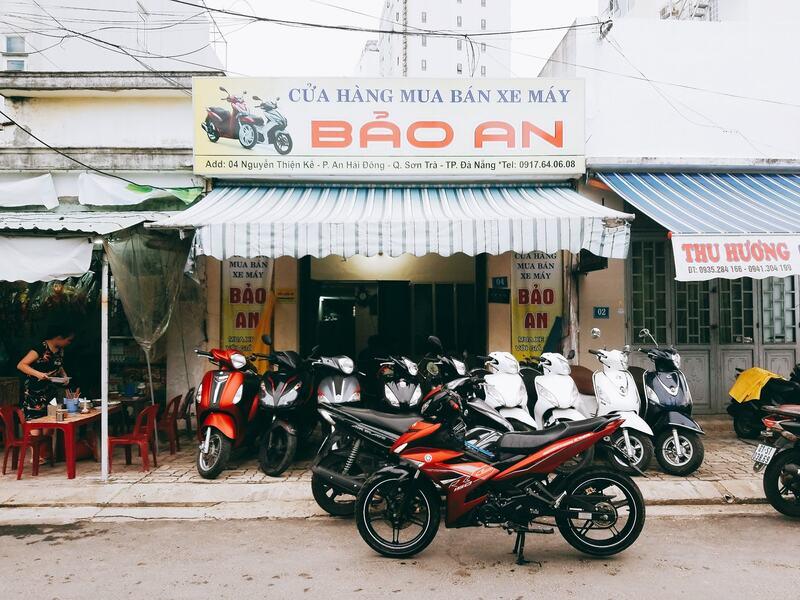 Cửa hàng xe máy cũ tại Đà Nẵng