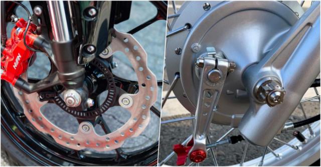 So sánh phanh tang trống và phanh đĩa xe máy